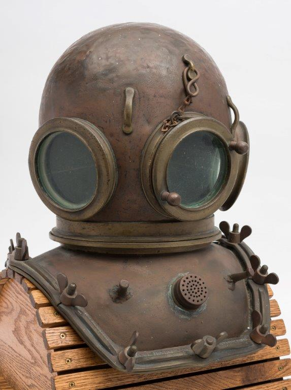 an early 12 bolt sqaure corselet diving helmet by ce heinke & co ltd