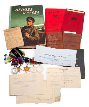 donald craig's wwii medal group and ephemera relating to his service and capture during operation title