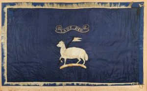 arctic exploration sledge flag for admiral george richards cb, commander of hms assistance