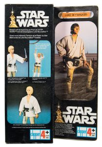 an original 1977 issue luke sky walker 12 inch action figure