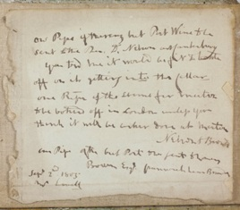 a hand written letter by lord horatio nelson 1st viscount nelson