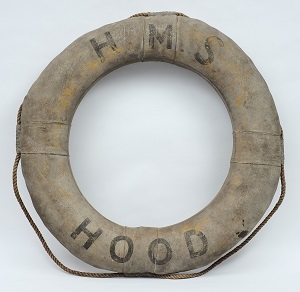 a war department issue life preserver for hms hood
