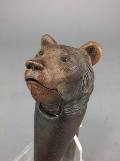 a 19th century black forest carved bears head nutcracker