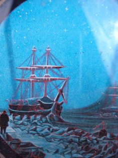 detail of polar expedition magic lantern slide