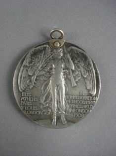 london 1908 olympic competitor's medallion