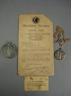 london 1908 olympic silver medal for heavy-weight boxing