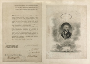 orders of command signed by lord horatio nelson