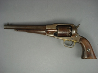 remington new model army 1858 six shot revolver.