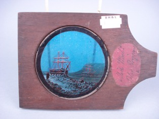 victorian polar expedition magic lantern slide