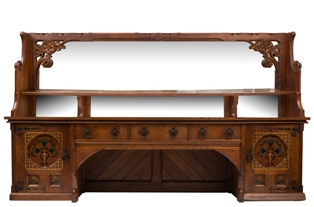 an oak gothic revival sideboard designed by william white (fs22/932)