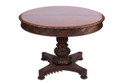 a 19th century indian carved padouk wood table (fs18/863)