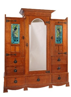 a shapland and petter late victorian/edwardian oak wardrobe (fs18/856)