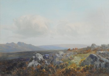 frederick john widgery [1862-1941] - a summer day on dartmoor (fs18/377)
