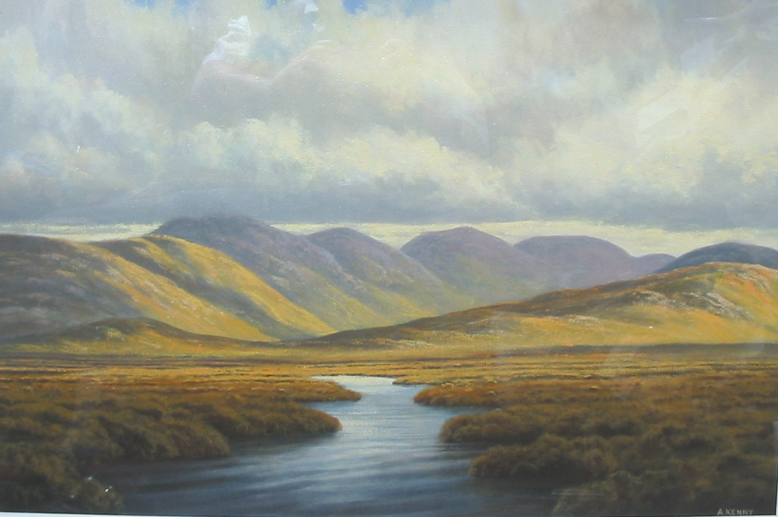 alan kenny painting of twelve bens, connemara