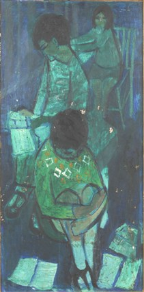 claudia williams - oil painting, children reading, estimate £500-700. 23 april 2009