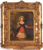 portrait of little betsie in fancy dress by john bridges, for sale 23 april 2009