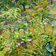 mary martin summer glade oil on board