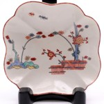 a saint cloud porcelain dish in the kakiemon manner circa 1740