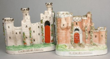 staffordshire-pottery-models-of-caernarvon-castle-and-beaumaris-castle