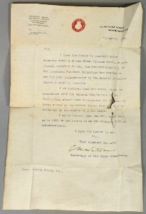 a 1906 letter to harry rhead whilst at wardle's from the louisana exhibition
