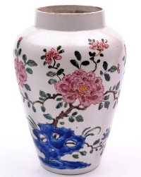 a bow porcelain jar circa 1750-52