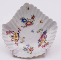 a bow porcelain leaf pickle dish circa 1752-55 (fs17/37)