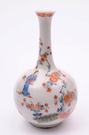 a bow porcelain vase with kakiemon decoration circa 1755