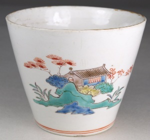 a chantilly porcelain beaker circa 1740-50