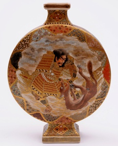 a dramatically decorated, but unsigned satsuma vase