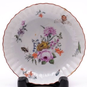 a london decorated chinese porcelain saucer circa 1760