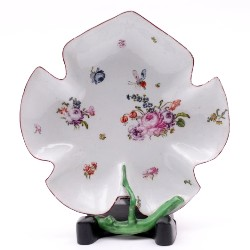 a longton hall porcelain dish by the trembly rose painter circa 1756-58