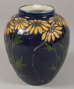 a naturalistic woods elers ware vase by frederick rhead