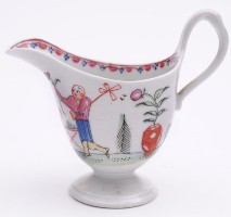 a new hall porcelain cream jug circa 1785