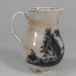 a plymouth porcelain cream jug circa 1768-70