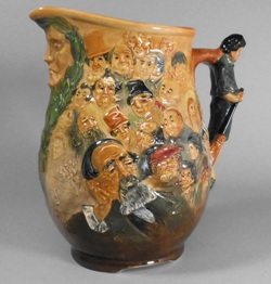 a royal  doulton dickens dream jug by charles noke