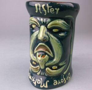 an upturned aller vale matrimony mug an ideal present for a holiday maker (fs24/486).