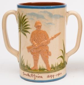 an aller vale tommy atkins boer war commemorative (fs24/488). the palm tree is is less