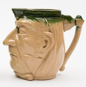 an aller vale (torquay) gladstone commemorative face jug (fs24/485).