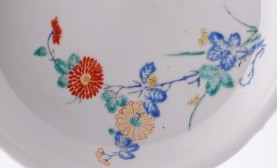 detail of a japanese kakiemon dish, late 17th century