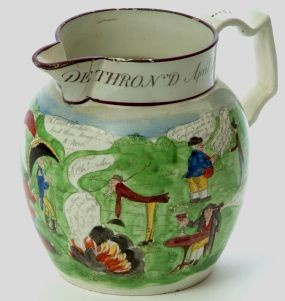 a dillwyn (swansea) jug of napoleon dethroned.