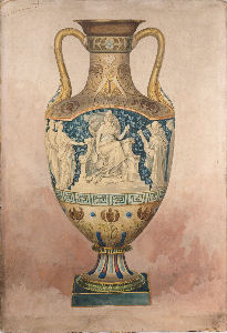 frederick alfred rhead's artwork for the gladstone vase executed for ejd bodley
