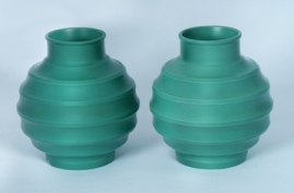 wedgwood keith murray 'annular' vases.