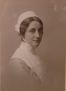 photograph of adolphine (dollie) rhead in her nurses uniform