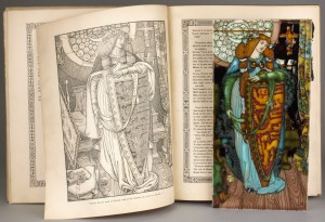 tennyson's idylls of the king and a signed charlotte rhead plaque
