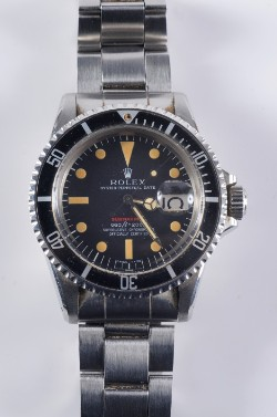 the rolex perpetual date submariner wristwatch