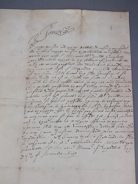 james i letter in antiquarian book auction