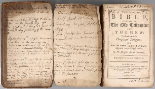 samuel taylor coleridge family bible sold for £5,500