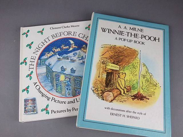 a selection of pop-up books on offer in the antiquarian book auction
