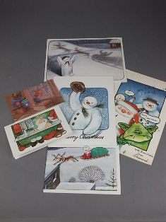 raymond briggs signed character christmas cards