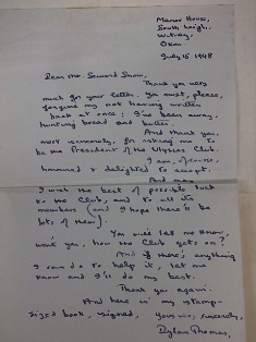 rare dylan thomas letter in antiquarian book auction